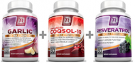 ENHANCED COQSOL 10 RESVERATROL GARLIC 120 CAPSULAS