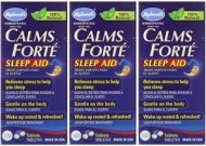 HYLANDS CALMS FORTE HOMEOPATHIC SLEEP AID 300 CAPS 3 FRASCOS