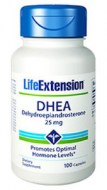 LIFE EXTENSION DHEA 25MG DEHYDROEPIANDROSTERONE (100 CAPSULAS)