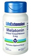 MELATONIN 3MG 6 HOUR TIME RELEASE (60 CAPSULAS)