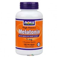 NOW FOODS HIGH POTENCY MELATONIN 5MG 180CAPS